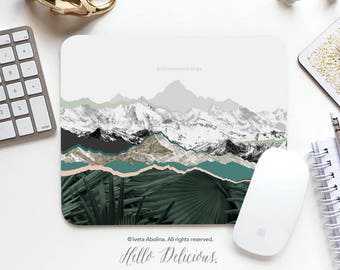 Mouse Pad Tropical Mountains Mousepad Mouse Mat Palm Tree Mouse Pad Office Mousemat Rectangular Mountainside Mousemat Mousepad Round I34