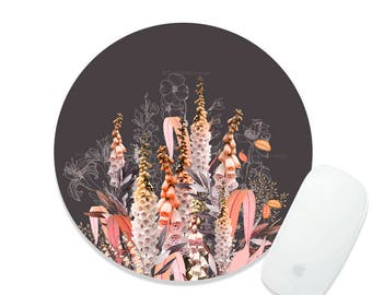 Floral Mousepad Fall Lupine Mousepad Floral Mouse Pad Flower Mousepad Wreath Mousepad Office Mousemat Rectangular Rose Mousepad Round 99.