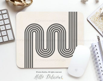 Artistic Design contemporary art mid-century modern mousepad for desk or study kids or adults great as a gift  9.25x7.75