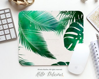 Mouse Pad Mousepad Tropical Leaves Print Mouse Mat Mouse Pad Office Mousemat Rectangular Mousemat Tropical Print Mousepad Round 69.
