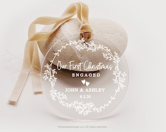 Valentines Day,Fathers Day Decor Engagement Ornament Announcement Party Favor Personalized