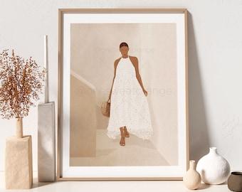 Girl Modern Wall Art Girl Illustration Print Modern Art Girl Art Poster Terra Art Print Modern Art Women Poster Girl Print Modern Girl B474