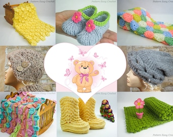 Special deal - CHOOSE ANY 3 PATTERNS - Crochet and knitting patterns