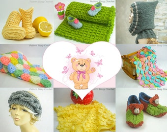 Special deal - CHOOSE ANY 5 PATTERNS - Crochet and knitting patterns