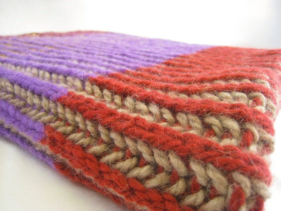 Knitting Pattern Baby Blanket With English Rib In Two Colors Etsy