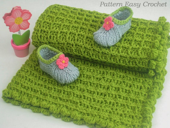 Crochet Pattern Baby Blanket Quick And Easy Pattern Etsy