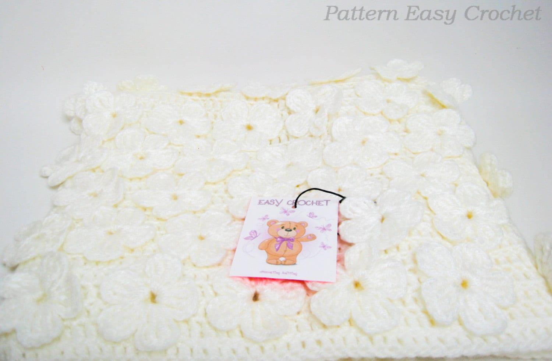 Ganchillo patrón bebé manta Floral patrón Digital del | Etsy