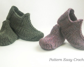 Slippers for home and office Knitting Pattern