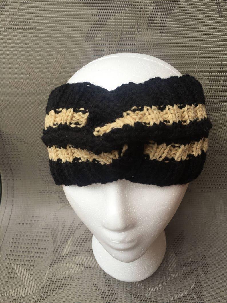 306cd4b0df9 Gucci inspired headband women men Black Gold Gucci