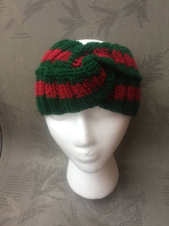 40%OFF Gucci headband style dark red green Gucci inspired  08b2c6dcaa8