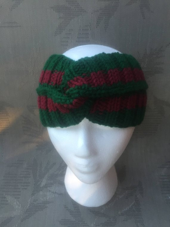 7f52634fa6d 40%OFF Gucci headband style dark red green Gucci inspired