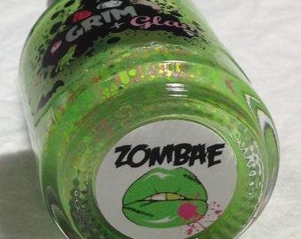 Zombae Nail Polish (Halloween Nail Polish, Duochrome/Shimmer/Crellie/Neon Glitter Nail Polish, Nail Art, Nail Care, Bath, Beauty, Makeup)