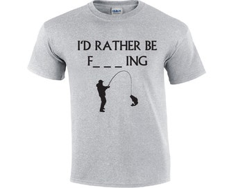 a97b4101b I'D Rather Be Fishing | Fishing T-shirt | Fisherman T-shirt | Funny Fishing  Shirt | Fishing Tees | Mens T-shirt | Fishing Shirts For Men