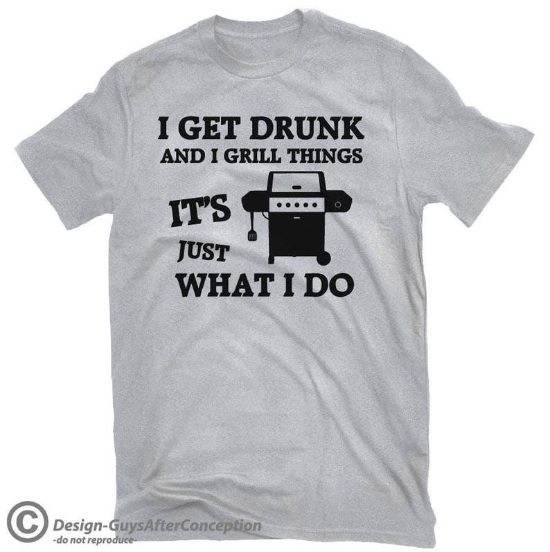 cb36634d I Grill Things BBQ T-shirt Grilling T-shirt Gas Propane | Etsy