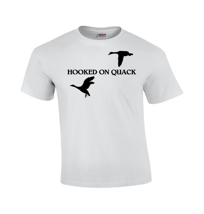 dda3de916 Hooked On Quack Hunting T-shirt Duck Hunting T-shirt   Etsy