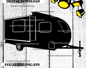Travel Camper Vector Image SVG Files Digital Cutting Files  Ai - Eps - PNG - DXF - Svg - A2
