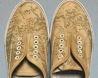 Game of Thrones Map Shoes