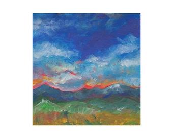 Mountains Landscape Print