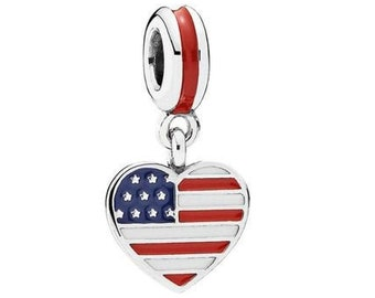 7e8cab77d USA Flag Enamel Charm for Pandora
