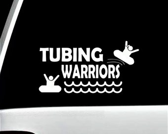 Tubing Inner Tube Girl Pontoon Decal Sticker for Car Window BG 431