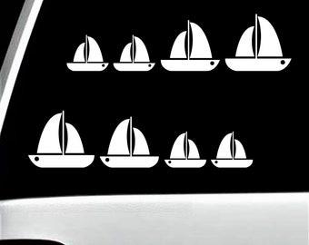 Sail Away Sailboat Decal Sticker for Car WindowSailing Boating BoatBG 382