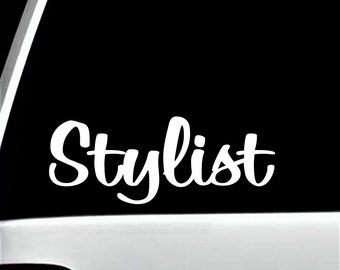C1003 STYLISTS RULE DECAL STICKER HAIR STYLIST DRESSER STUDIO ART