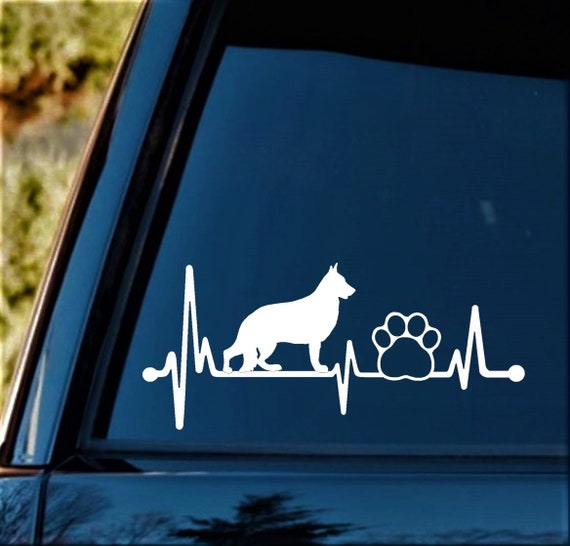 K1108 Shiba Inu Heartbeat © Lifeline Dog Decal Sticker Cat Truck SUV Laptop Art