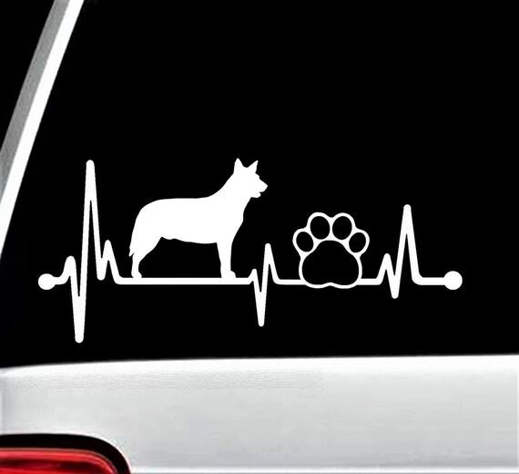 Husky Grandma Dog Decal Sticker for Car Window 8 Inch BG 322