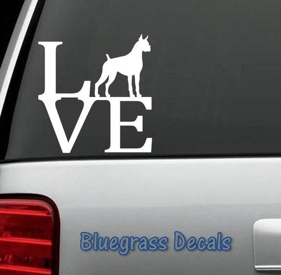 B1087 Pug Dog LOVE Decal Sticker for Car Truck SUV Van LAPTOP