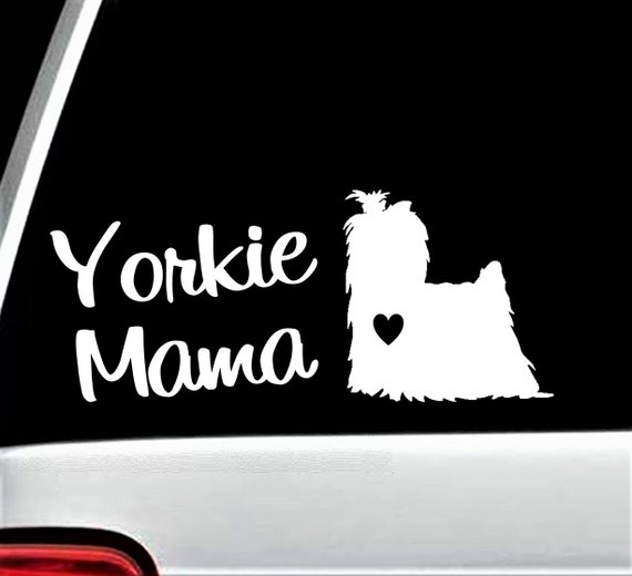 E1050 Yorkie Mom Yorkshire Terrier Dog Breed Decal Sticker Pet Gift Accessories