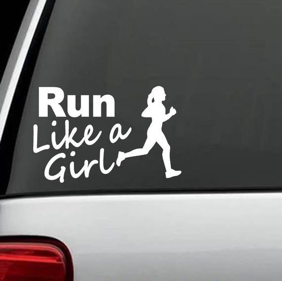 Run Heartbeat Lifeline Decal Sticker K1173 Running Jogging 5k 10k 13.1 26.2