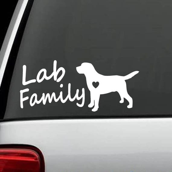 My Lab Is My Shadow Labrador Dog Decal Sticker *L1048 Mom Pet Gift Accessories