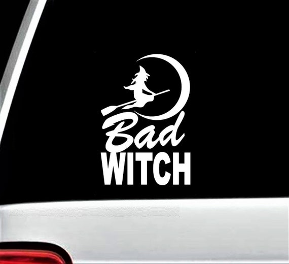 Witch Moon Broom Heartbeat Decal Sticker k1155 Greek Triple Goddess Pagan Wiccan