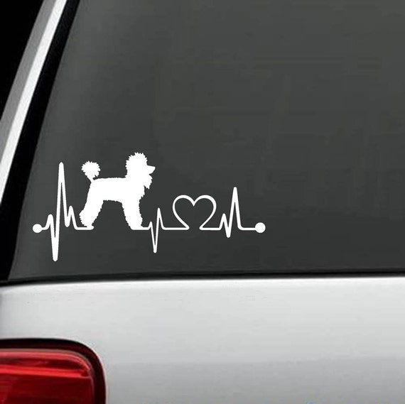 L1030 Poodle Mom Dog Breed Decal Sticker Pet Gift Accessories Poodle Standard