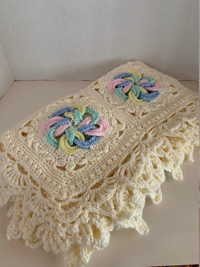 Pastel Pinwheels Crocheted Baby Blanket