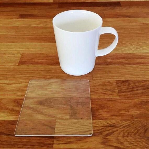 Square Clear Gloss Finish Acrylic Coasters