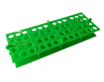 Engraved Drip Tips E-cig Stand, Bright Green Acrylic Rectangle Shape