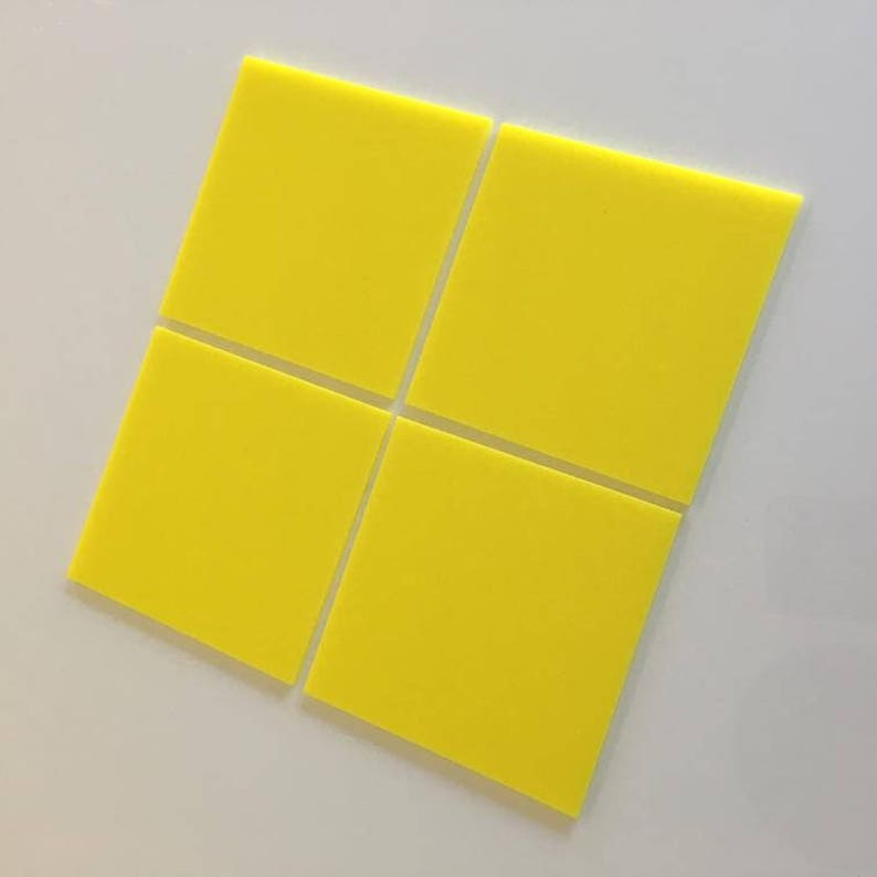 1cm to 20cm Yellow Gloss Acrylic Square Crafting Mosaic /& Wall Tiles 1 to 7.9 Sizes