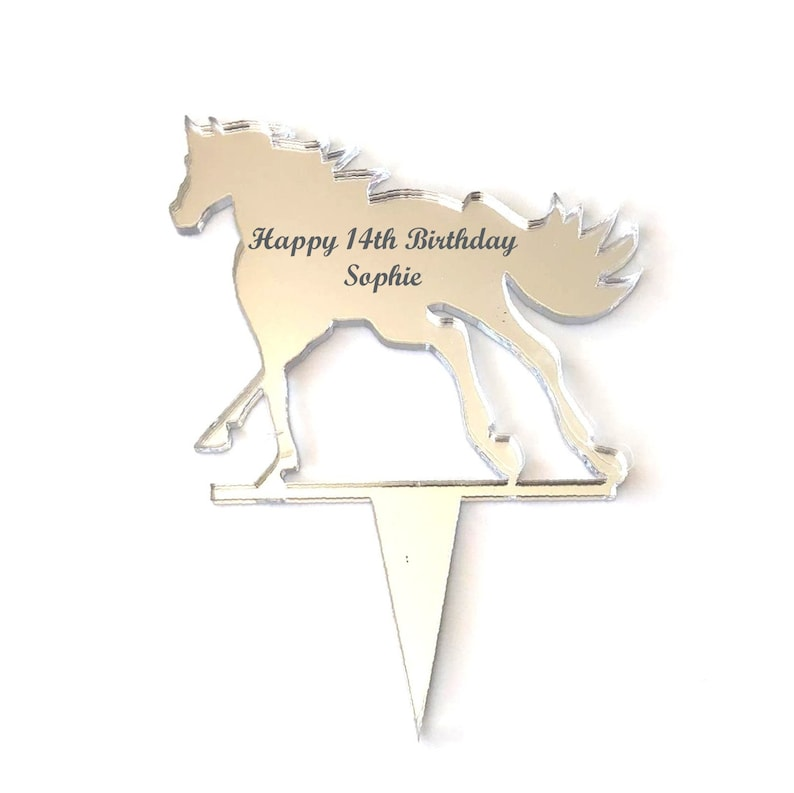 Several Colour Options Available Cantering Horse Shaped Cake Toppers /& Cup Cake Toppers