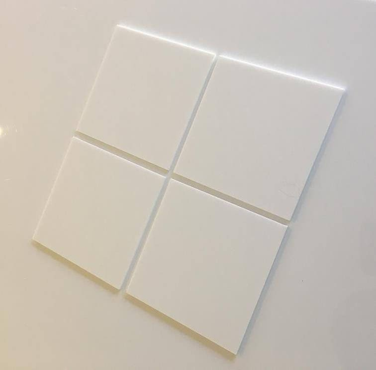 """White Gloss Acrylic Square Crafting Mosaic//Wall Tiles Sizes 1cm-20cm 1/""""-7.9/"""""""