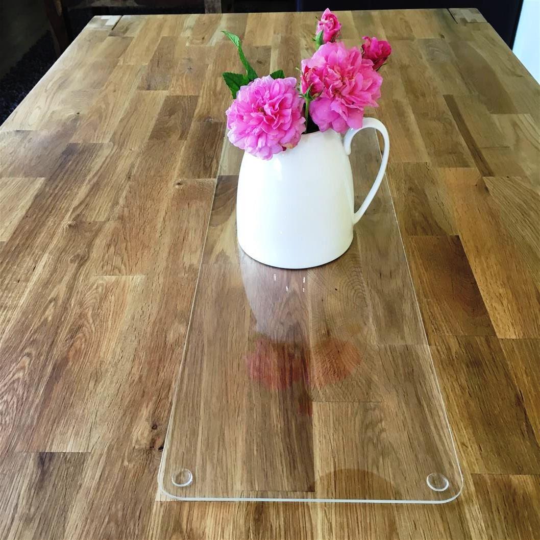 Rectangular Acrylic Table Runner Clear