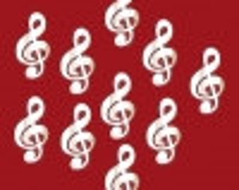 Clefs, Quavers & Crotchet Shaped Crafting Mirrors - Packs of 10 Musical Symbol Mirrors