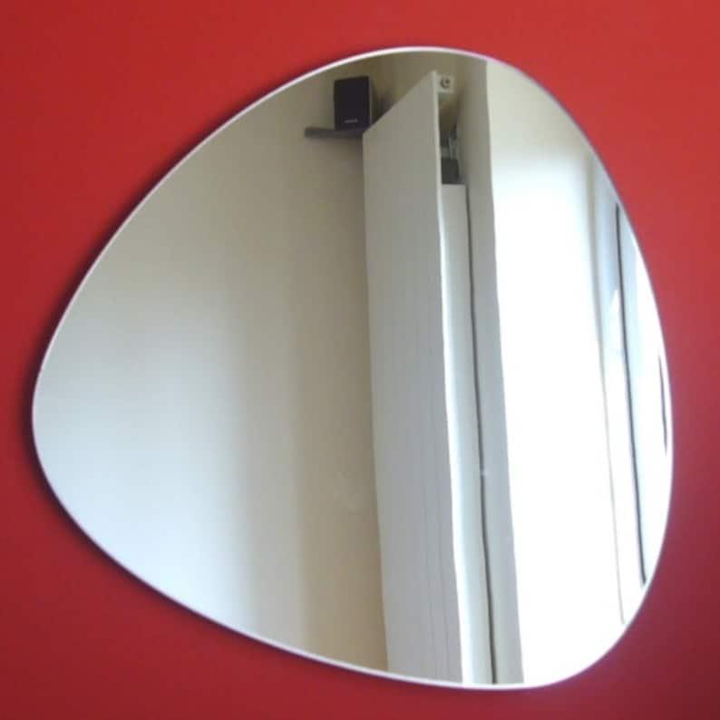 Pebble Shaped Mirrors  Triangular image 0