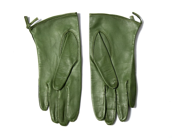 Vintage 1950s Gloves | 50s CLAIRE MCCARDELL Green… - image 3