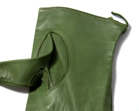 Vintage 1950s Gloves | 50s CLAIRE MCCARDELL Green… - image 5
