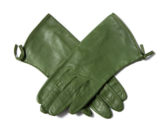 Vintage 1950s Gloves | 50s CLAIRE MCCARDELL Green… - image 2