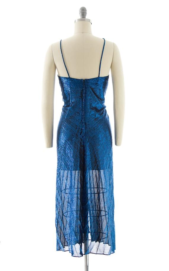 Vintage 1980s Party Dress   80s NEW LEAF Metallic… - image 6