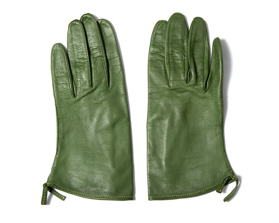 Vintage 1950s Gloves | 50s CLAIRE MCCARDELL Green… - image 1