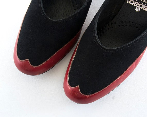 FINAL SALE || Vintage 1940s Shoes | 40s Spectator… - image 7