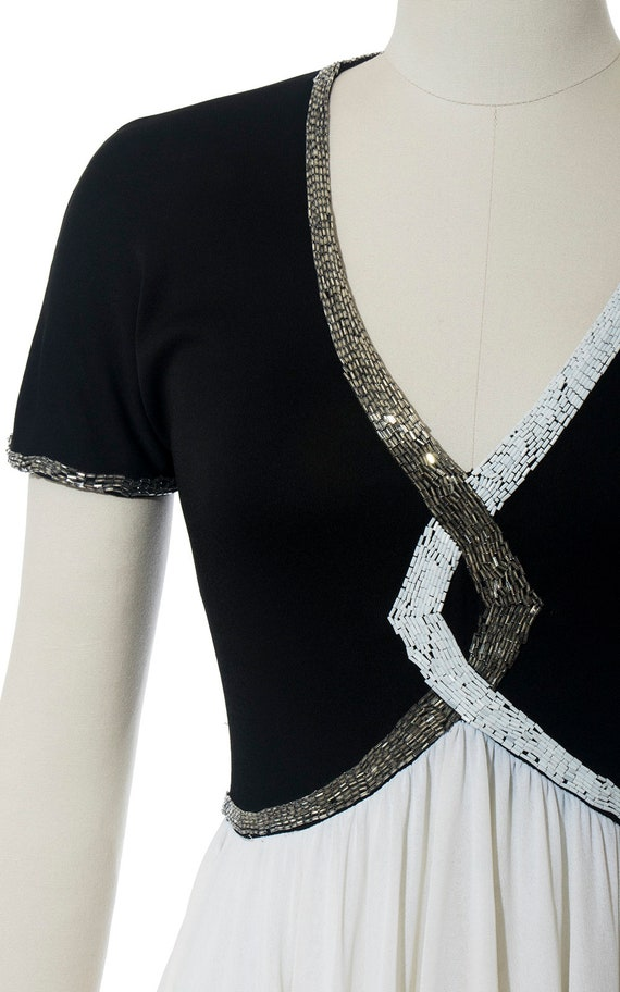 FINAL SALE || Vintage 1940s Style Dress | Beaded … - image 5